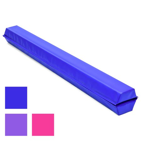 Best Choice Products 9ft Full Size Folding Floor Balance Beam for Gymnastics and Tumbling w/ Medium-Density Foam, 4in Wide Surface, Non-Slip Vinyl - Blue