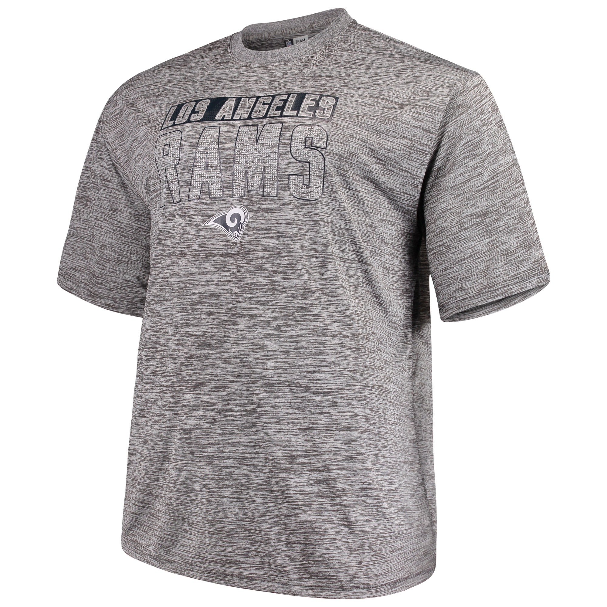 Men's Majestic Heathered Gray Los Angeles Rams Big & Tall Last Chance Ply Reflective T-Shirt