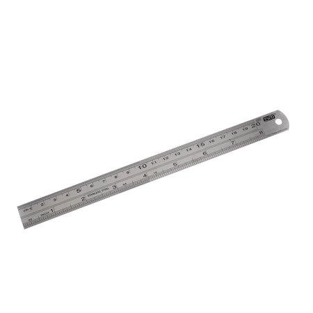 Unique Bargains Carpenter Stainless Steel Straight Ruler Measuring Tool 20Cm 8 Inch