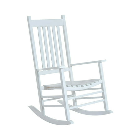 Outsunny Porch Rocking Chair - Outdoor Patio Wooden Rocker -