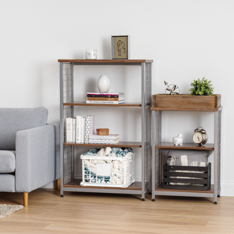 IRIS 3-Tier Wide Open Mesh Wood-Top Shelf, Off White - Walmart.com