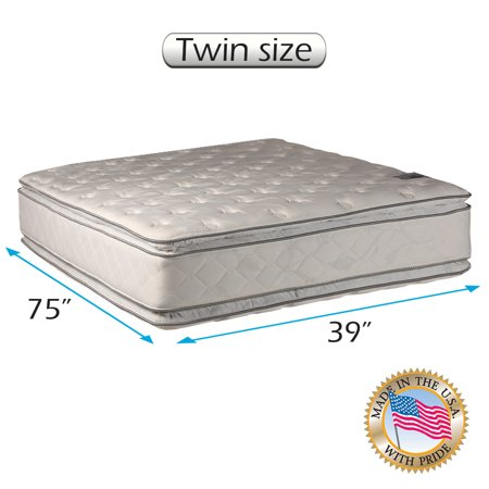 Natural Dream (Twin) Medium Soft PillowTop Mattress Only - Double-Sided Sleep System with Enhanced Cushion Support- Fully Assembled, Back Support, Longlasting by Dream Solutions USA