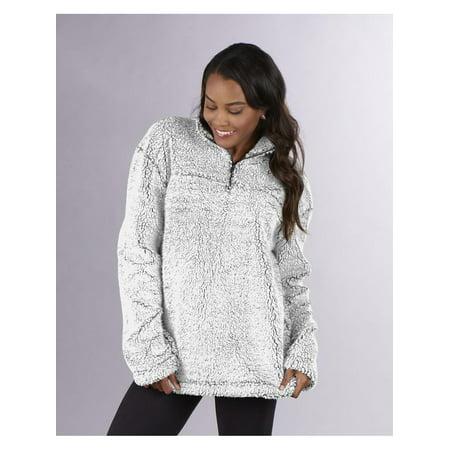 BoxercraftUnisex Sherpa Quarter-Zip Pullover - Natural Pullover