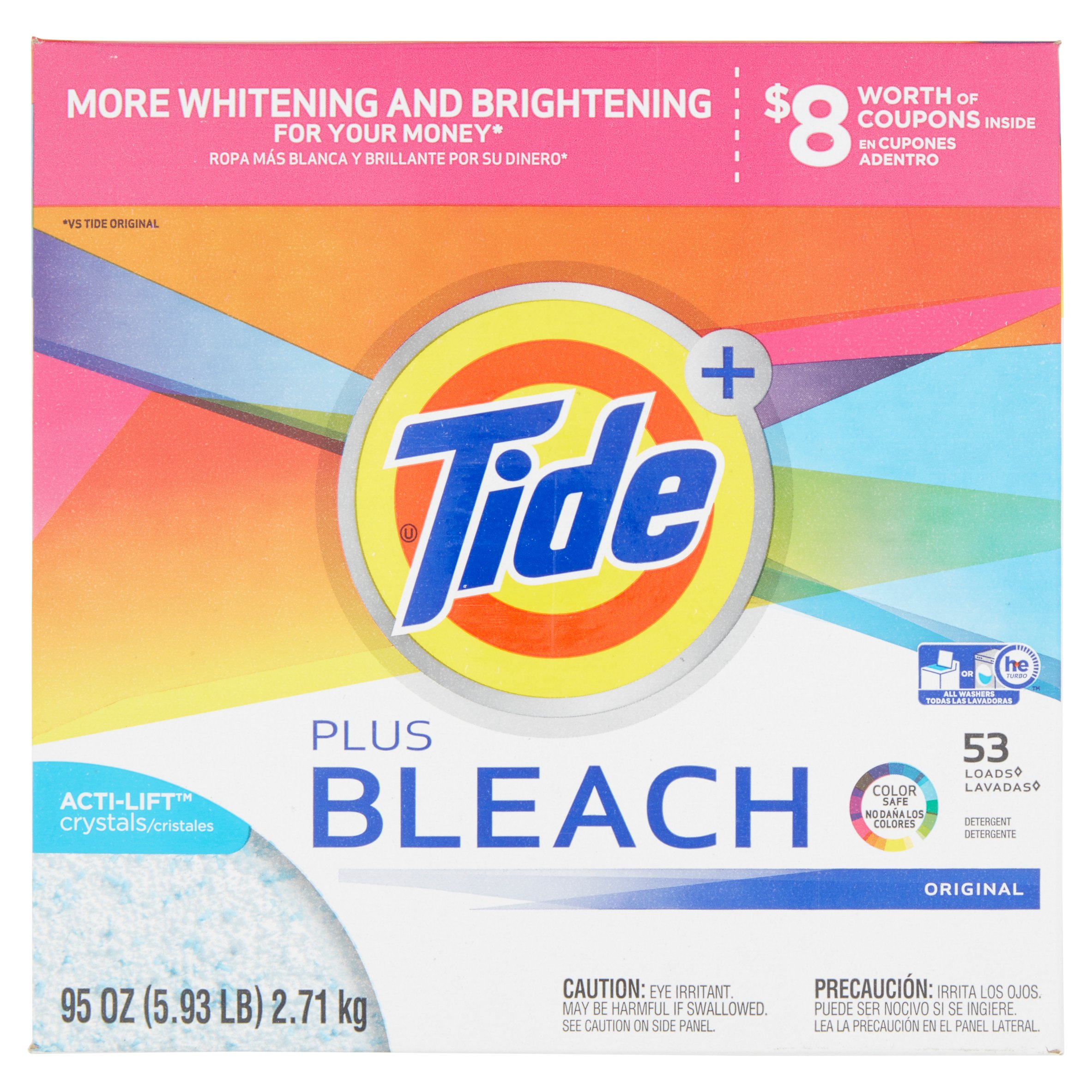 Is arm and hammer powder laundry detergent he - Tide With Bleach Alternative He Turbo Powder Laundry Detergent Original Scent 53 Loads 95
