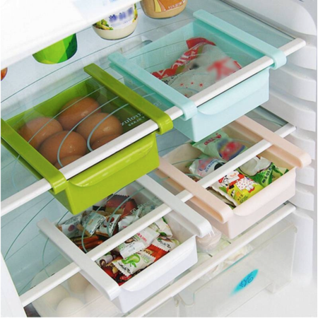 4 Colors Slide Kitchen Fridge Freezer Space Saver Organizer Storage