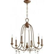 Quorum Venice 6 Light Chandelier in Vintage Copper