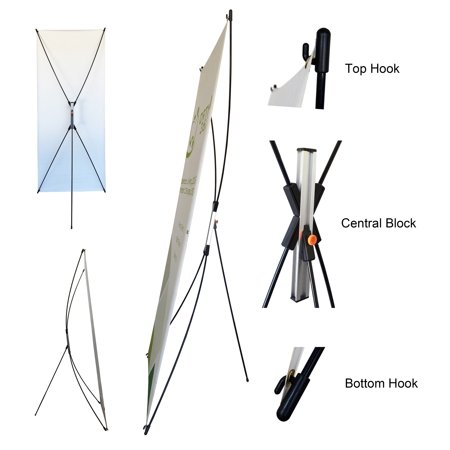 TheDisplayDeal X Type Adjustable Banner Stand High Quality Support Any Banner size 24