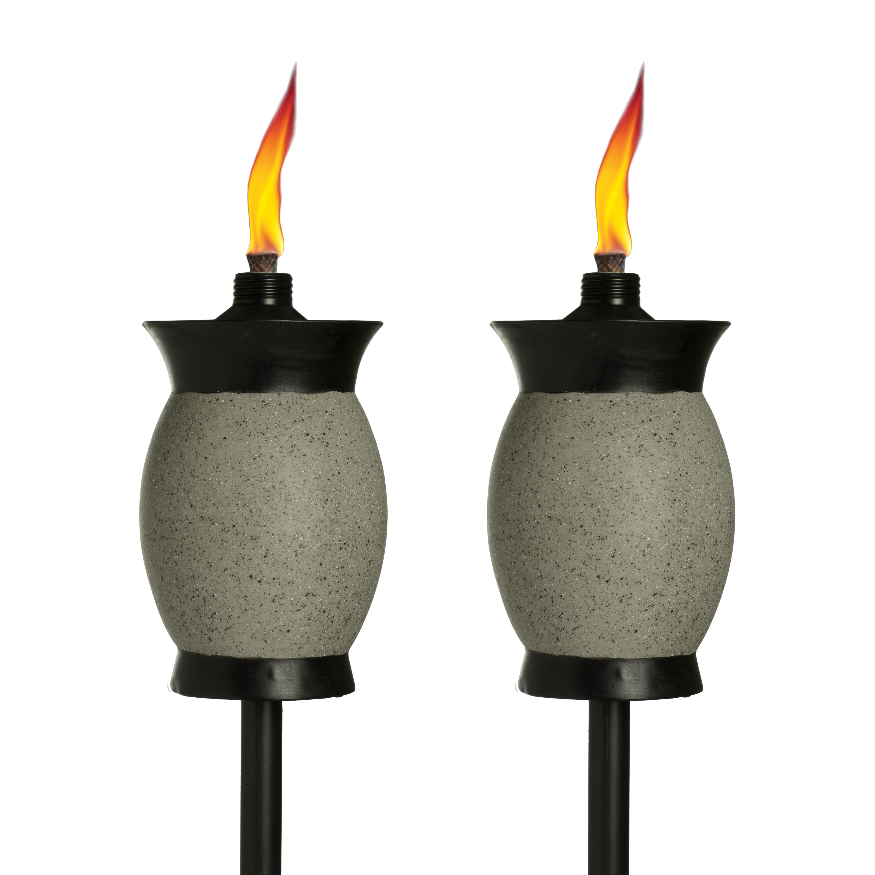 TIKI® Brand 64-inch Resin Jar Torch 4-in-1 Gray Color - 2 pack