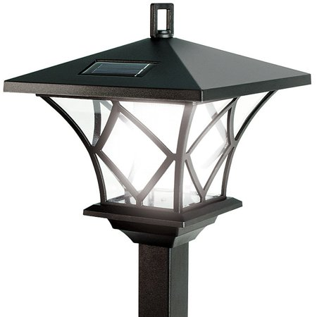 Ideaworks Solar Powered LED Yard Lamp With 5 Foot Pole For Outdoor on