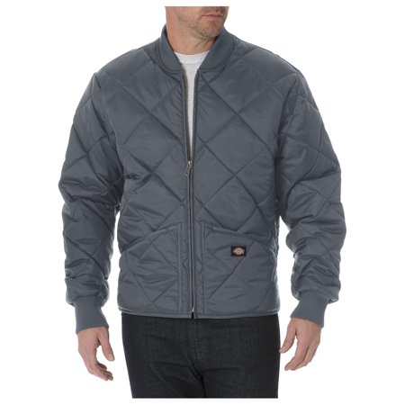Dickies Mens Diamond Quilted Nylon Jacket Charcoal Xl Walmart