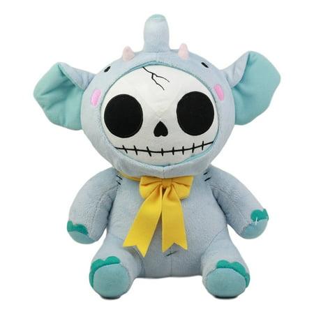 Ebros Furry Bones Skeleton Elefun The Elephant With Yellow Bow Tie Plush Toy Doll Collectible
