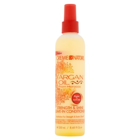 Creme Of Nature Strength & Shine Leave-In Conditioner with Argan Oil, 8.45 fl (Shine Conditioner)
