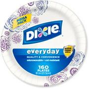 "Dixie 8.5"" Paper Plates, 160 ct"