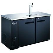 "Heavy Duty Commercial 1 Tap Black Beer Dispenser (27"" depth 58"" length) by SABA"