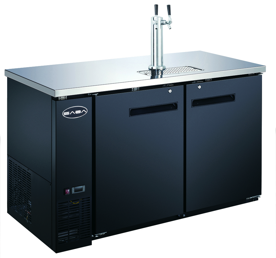 "Heavy Duty Commercial 1 Tap Black Beer Dispenser (27"" depth 58"" length)"
