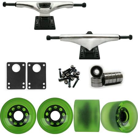 Core 7.0 Raw Longboard Trucks Wheels Package 70mm Sliding Wheels