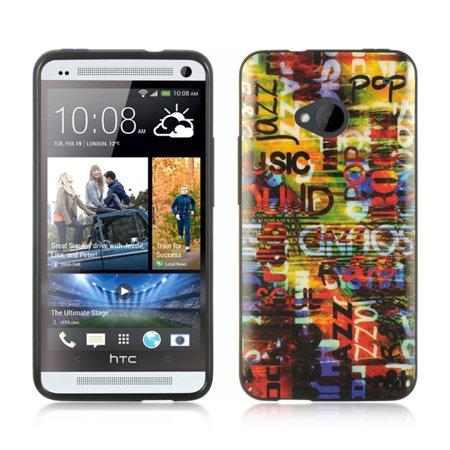 Insten TPU Case For HTC One M7 - Colorful