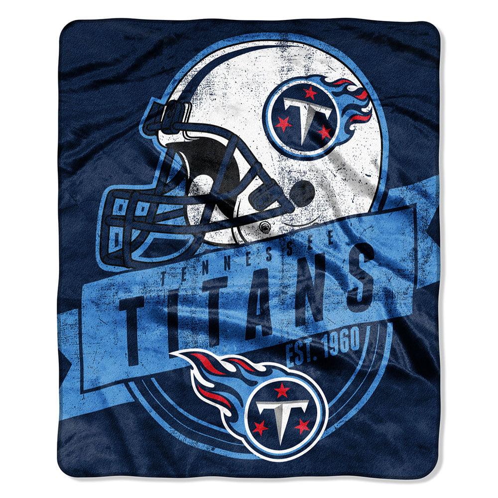 "Tennessee Titans 50""x60"" Royal Plush Raschel Throw Blanket -"