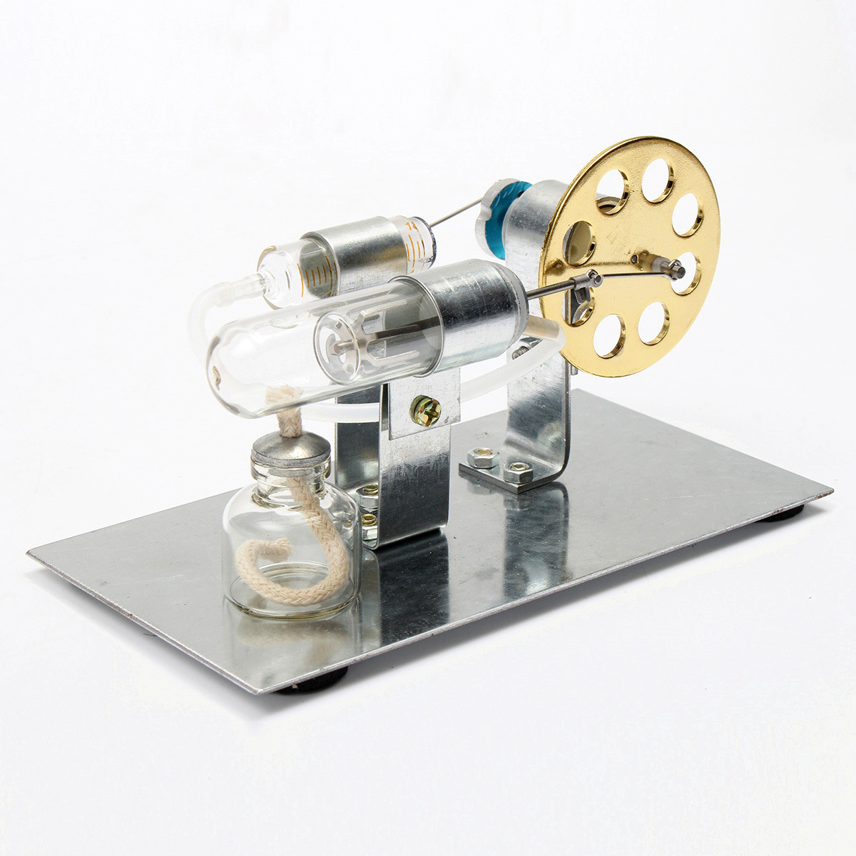 Mini Hot Air Stirling Engine hot air Motor Model Science Educational Steam Power Toy Physics Electricity Education