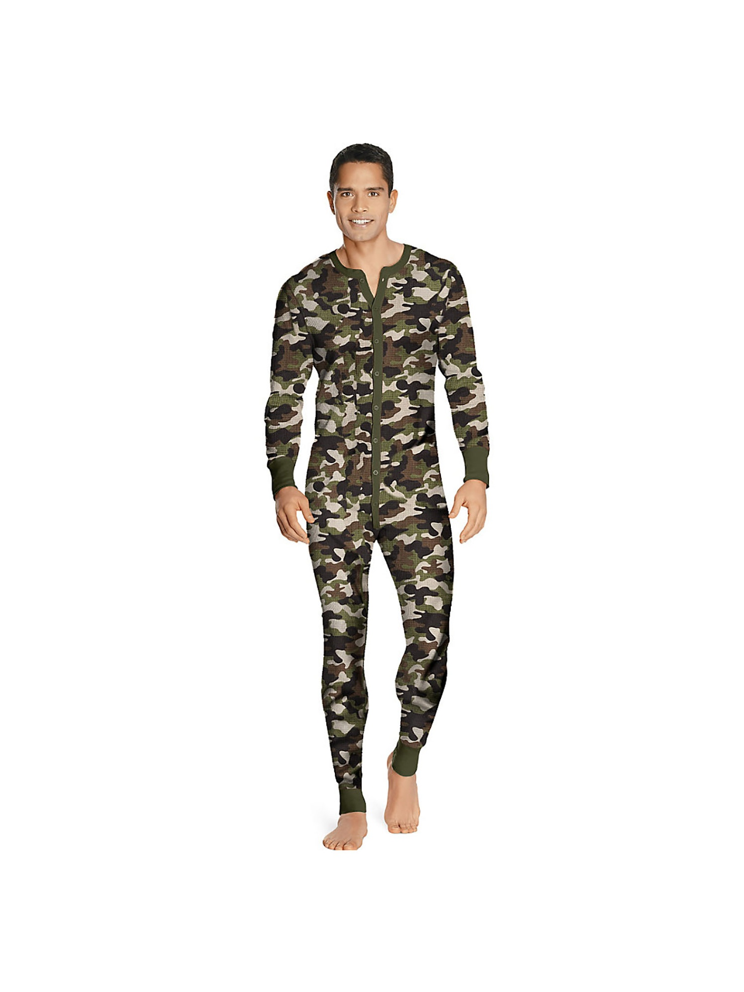 Hanes Men's Full Cut Fit Thermal Union Suit, Style 14630
