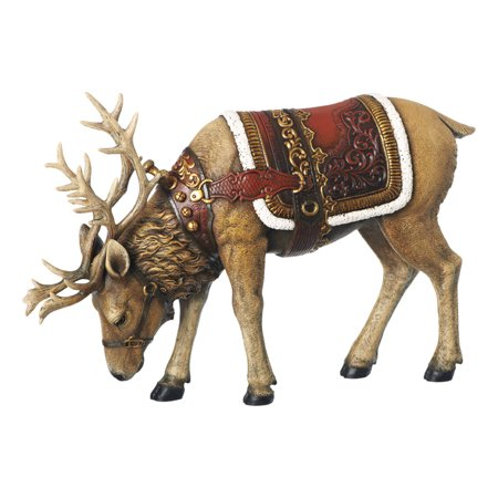 Joseph Studios Reindeer Eating Christmas Figurine Resin 14 in.