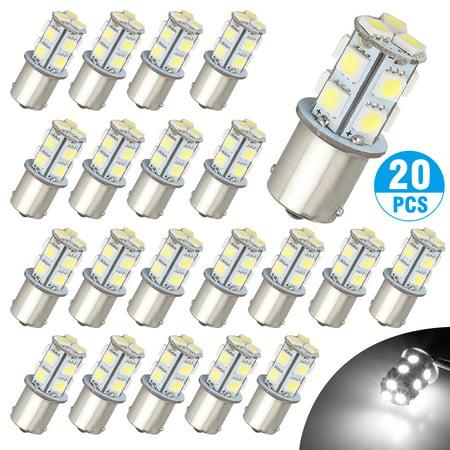 TSV 12V 1156 20 Pack Bright 1156 1141 1003 13-SMD White LED Bulbs For Car Interior RV Camper light 13 Smd Led