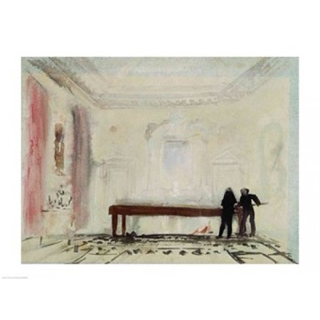 Petworth House (Billiard players at Petworth House 1830 Stretched Canvas - JMW Turner (24 x 18))