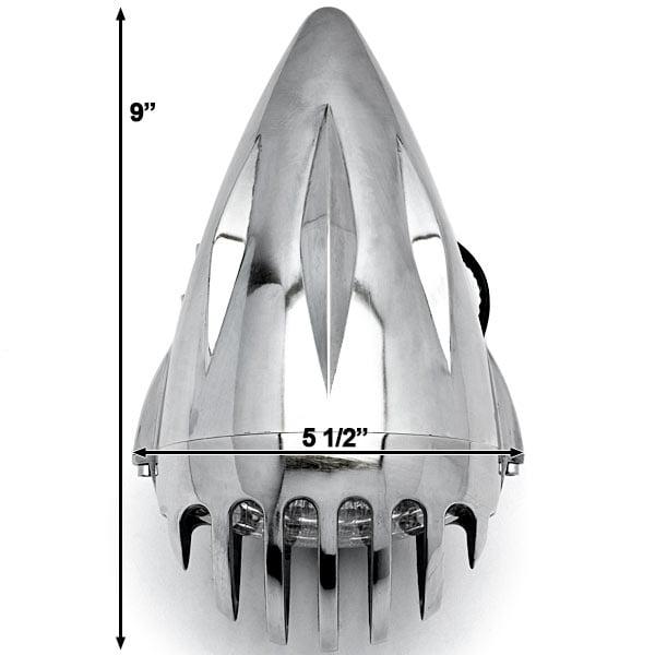 "4 3/4"" Chrome Round Motorcycle Headlight Light For Yamaha Road Star Warrior Midnight XV - image 4 of 6"