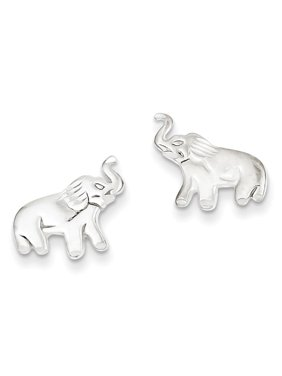 Sterling Silver Elephant Post Earrings 2.25grams (L 11mm W 15mm)Casted | Polished | Post | Sterling silver