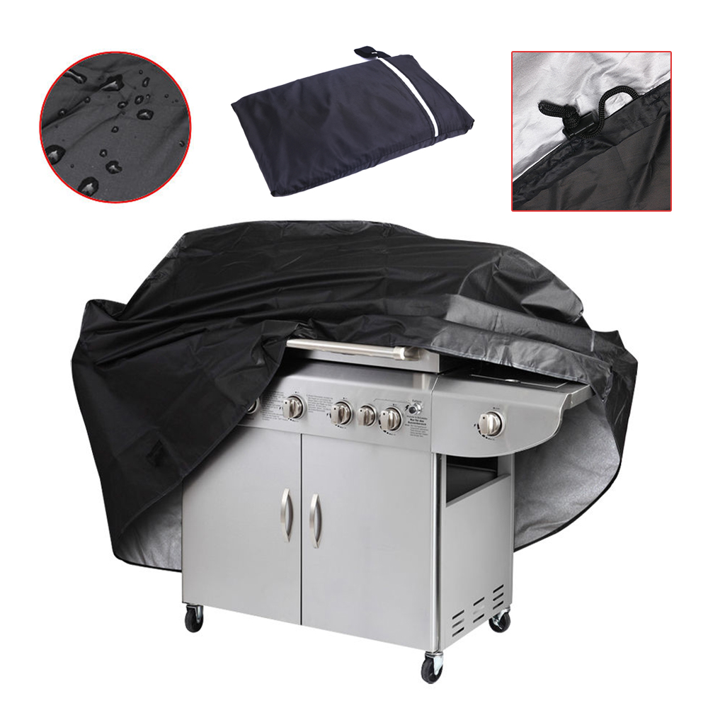 "57"" Waterproof Outdoor BBQ Grill Cover Gas Barbecue with Storage Bag, Black by"