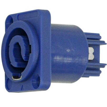 Seismic Audio  Panel Mount Power Cable Receptacle - Fits D Series Pattern Hole Blue - SAPT231