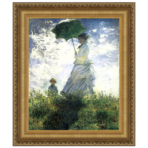 for haircut at walmart design toscano with a parasol 1875 by claude monet 3957