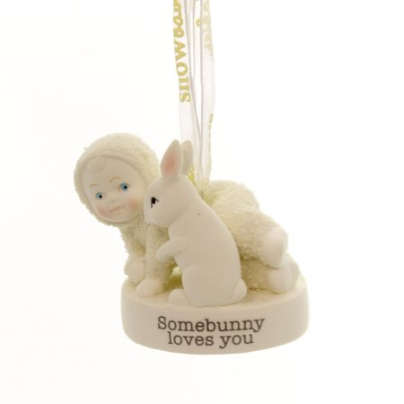 Dept 56 Snowbabies SOMEBUNNY LOVES YOU Christmas Rabbit Ornament 4058678