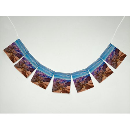 GCKG Scenery Beautiful Landscape of Grand Canyon National Park in Arizona, USA Banner Bunting Garland Flag Sign for Home Family Party Decoration