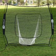 Costway 7X7' Baseball Softball Practice Hitting Batting Training Net Bow Frame Black Bag by Costway