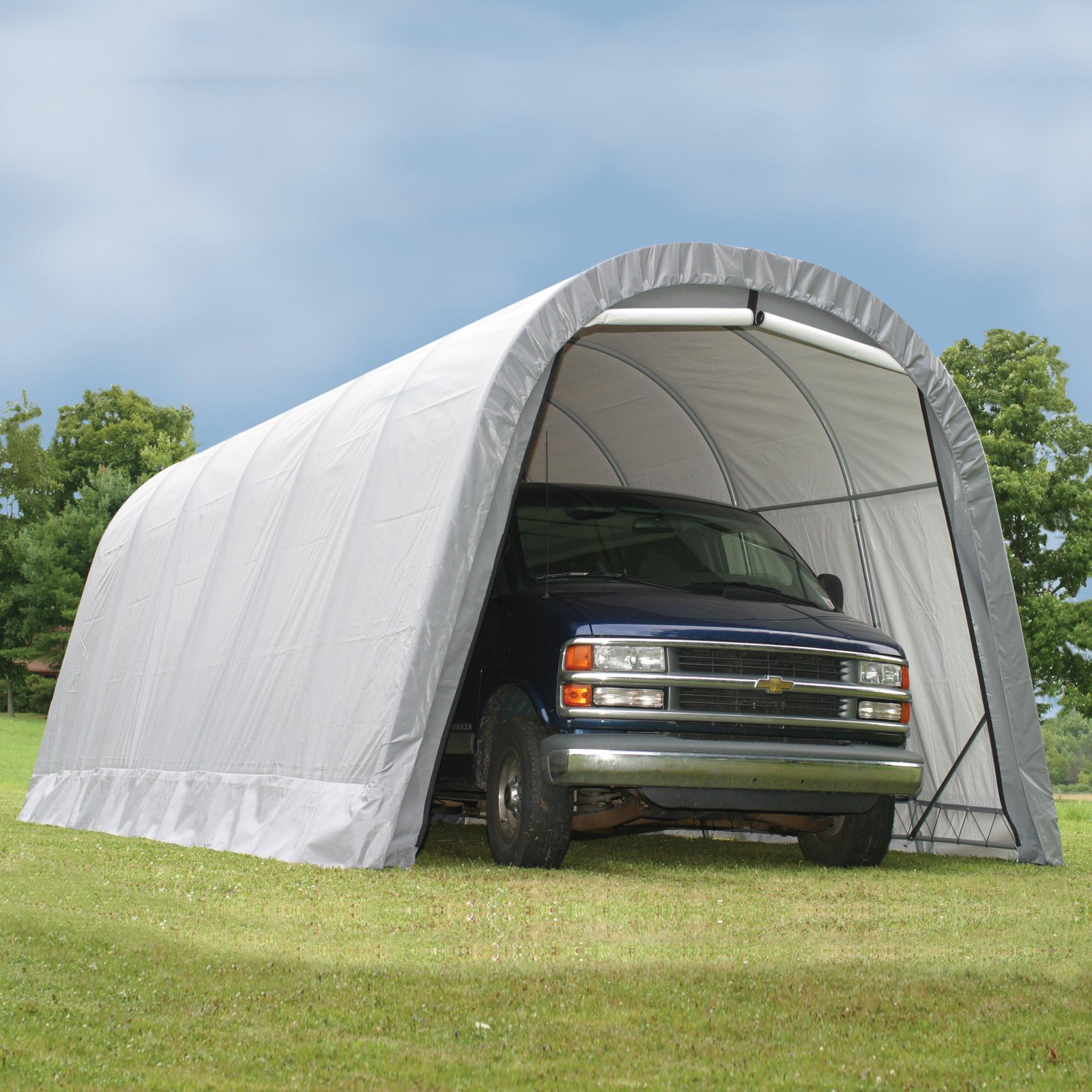 Shelterlogic 13' x 24' x 10' Round Style Shelter, Green