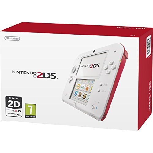 Refurbished Nintendo Handheld Console 2DS White/red