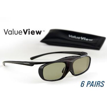 SAMSUNG-Compatible ValueView  3D Glasses. Rechargeable. MEGA-PACK