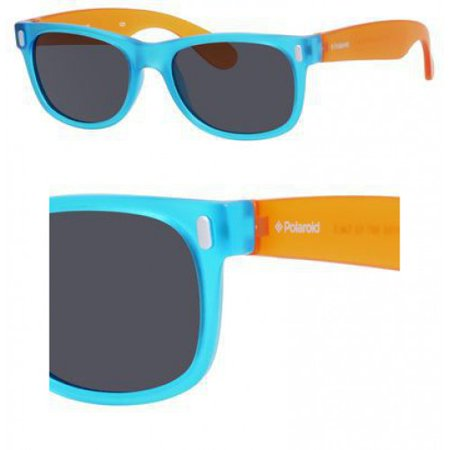 P 0115/S 089T Y2 Blue Orange 46mm Polaroid P 0115/S Wayfarer Child (age 3-6) Polarized Sunglasses