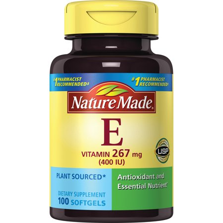 Nature Made® Plant Sourced Vitamin E 267 mg (400 IU) d-Alpha (Foodsource Vitamin)