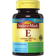 Nature Made® Plant Sourced Vitamin E 267 mg (400 IU) d-Alpha Softgels