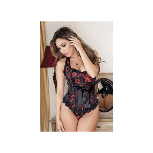 iBasic Intima Satin Corset Set 7237 Red
