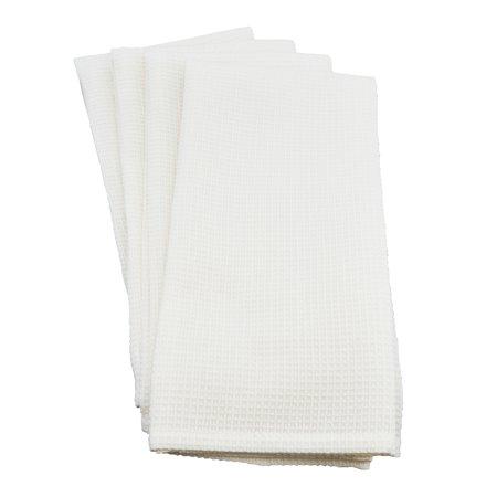 Saro Lifestyle Woven Waffle Weave Cotton Kitchen Hand Towel - set of 4 pcs