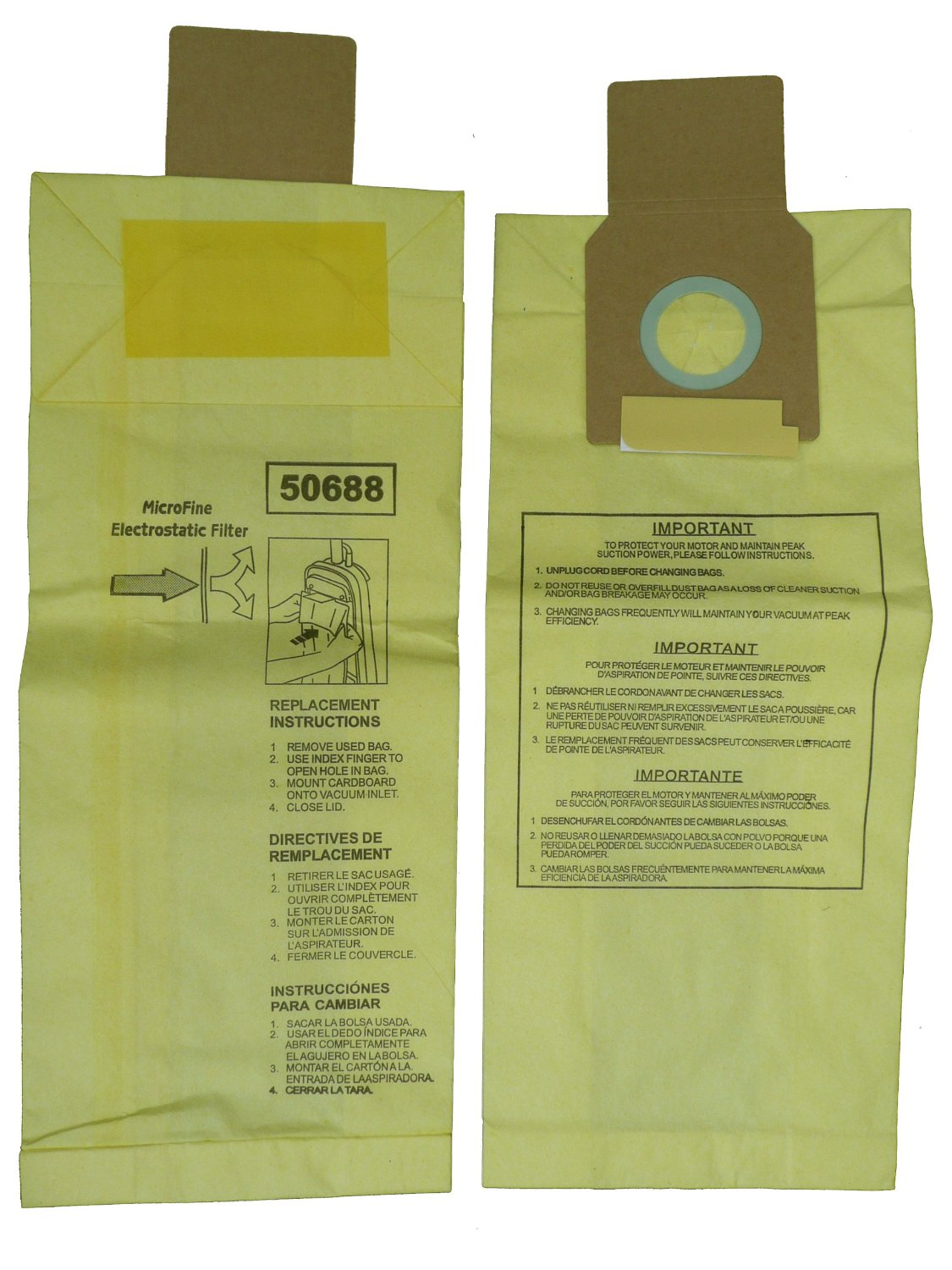 12 Kenmore Sears 50688 50690 U Vacuum Bags Upright Canister Panasonic 2 Miele Z Sanyo Pu 1 Cleaners Mc 11