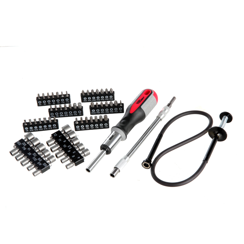 Hyper Tough 64-Piece Ratcheting Screwdriver Set with Bonus Flex Magnetic Retriever