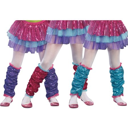 Purple Dance Craze Leg Warmers Child Halloween Accessory](Elna Baker Halloween Dance)