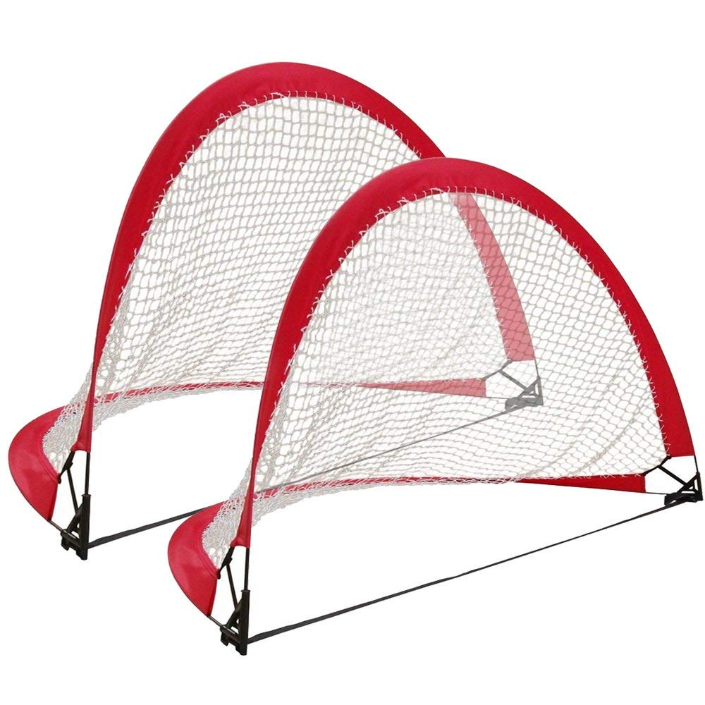 Woodworm 4FT Portable Pop Up Soccer Goal Set (Set Of 2)