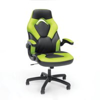 OFM Essentials Collection Racing Style Bonded Leather Gaming Chair, in White (ESS-3085-WHT)
