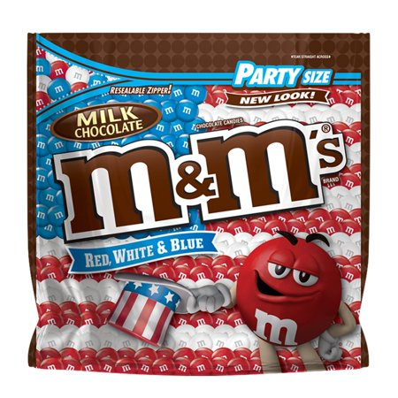 M&MS Red, White & Blue Patriotic Milk Chocolate Candy, 42-Ounce Party Size Bag