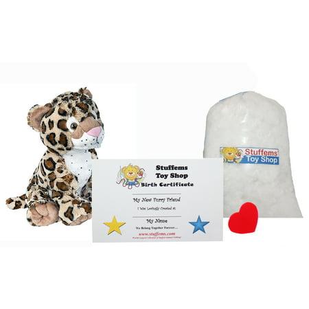 Stuffed Animal Kits (Make Your Own Stuffed Animal Mini 8 Inch Charlie the Cheetah Kit - No Sewing)